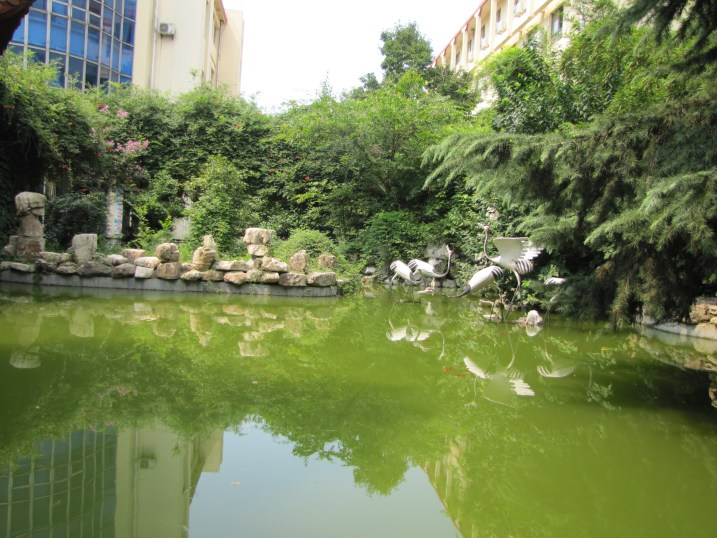 Pond and garden in Lianyungang
