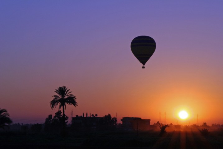 Hot air balloon over Luxor