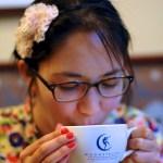 Pretty girl coffee