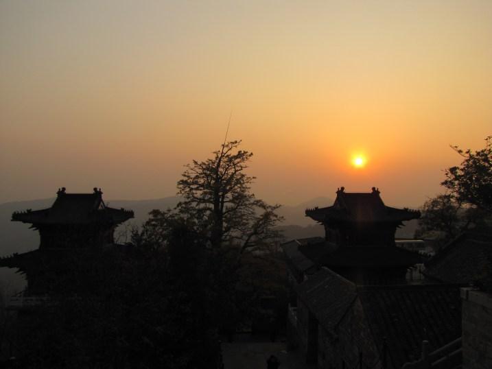 A beautiful sunset over Lianyungang