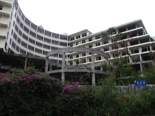 An incomplete hotel in Sanya