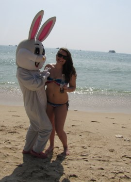 Easter Bunny on Christmas Day
