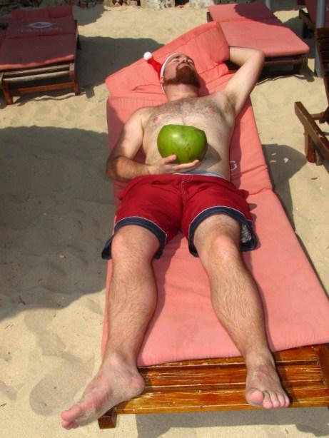 Relaxing on Dadonhai Beach
