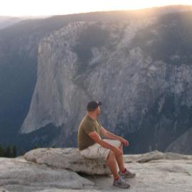 Contemplating Yosemite from atop the Sentinel Dome