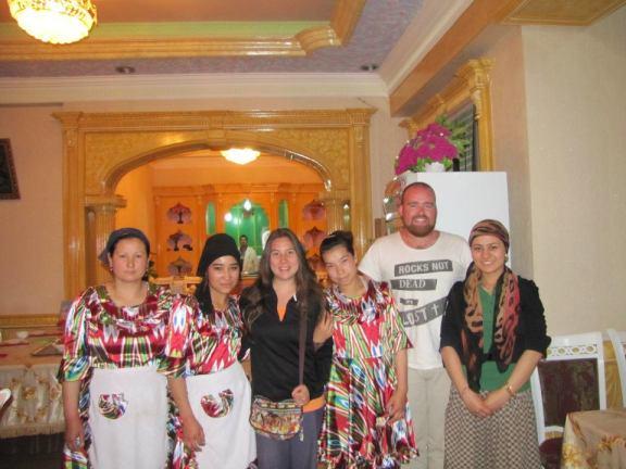Making new friends in Kashgar, Xinjiang