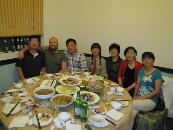 Dinner with a Chinese family