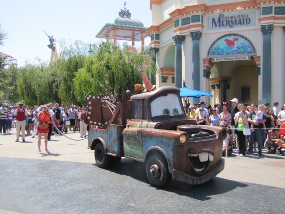 The ridiculously popular Mater from Cars rounded out the show.