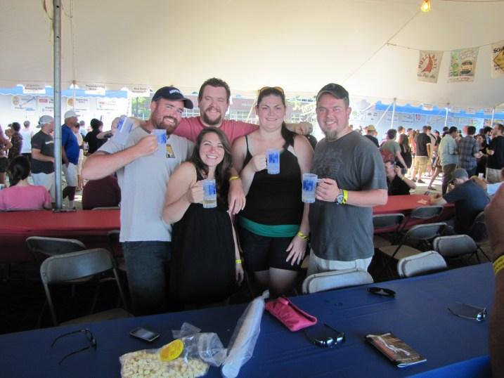 Adam, Cody, Dez, Heather, and I enjoying some suds and sun