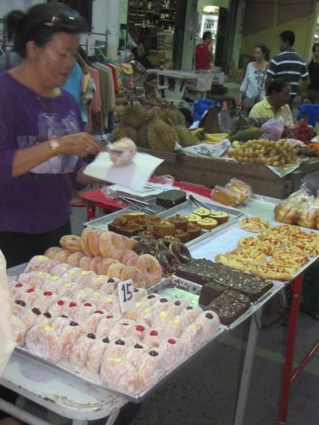 """""""Traditional food"""" at the Koh Phangan night market."""