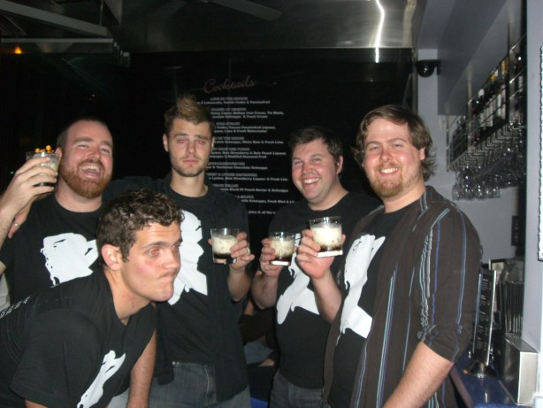 On an entirely less classy pub crawl in Sydney in 2010.