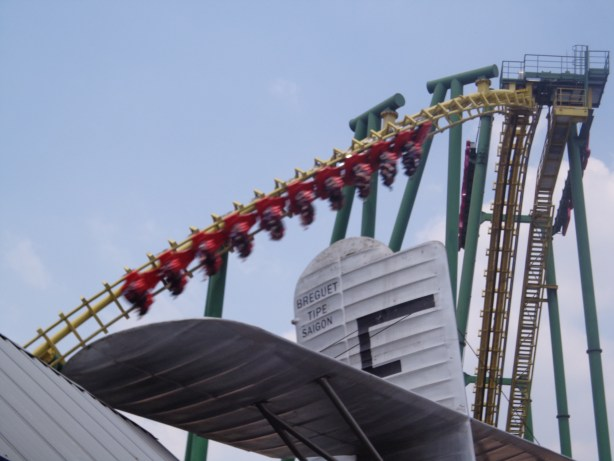 Dragon in Clouds was the least exciting of the park's thrill rides.