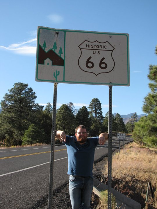 Chilling out on Route 66 in 2009.