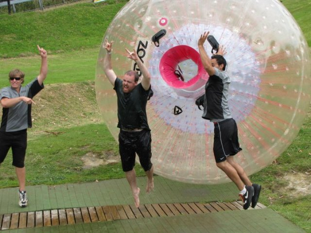 Go zorbing. Is Good.