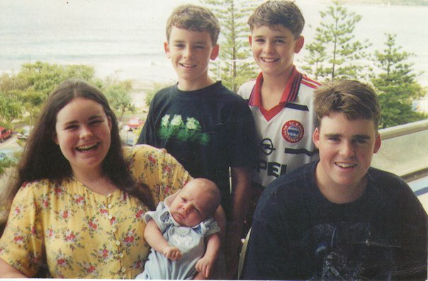 My family and I on vacation in 1999. We've all grown up!