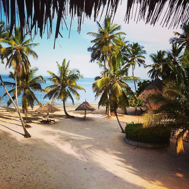 I had the Chwaka Bay Resort almost to myself.