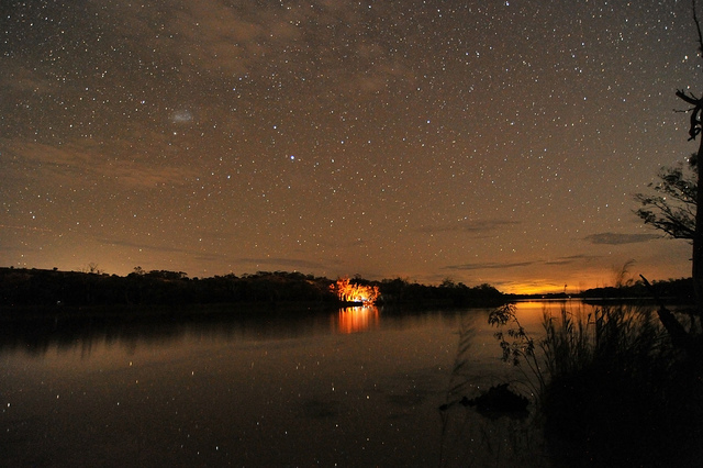 A stunning starscape over the Murray River. Photo by Wayne England.