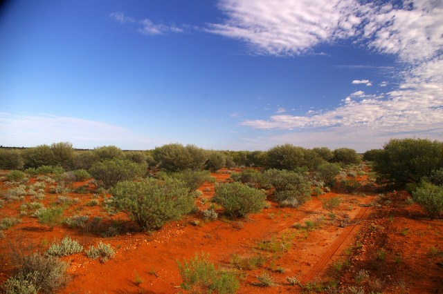 The iconic red of the Aussie Outback is in evidence throughout the region.