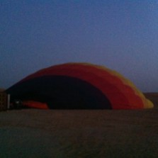 The balloon starts its day feeling about as energetic as I did.
