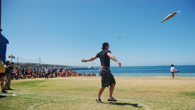 A festival for tossing fish. Makes sense. Image courtesy of Port Lincoln Times.