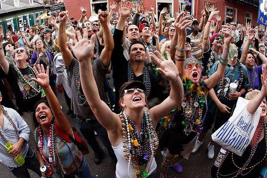 Mardi Gras girls beads