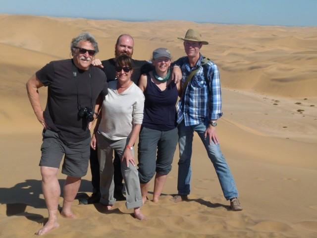 Don, Astrid, myself, Caren, and our guide, Stefan enjoying the Namib Desert.