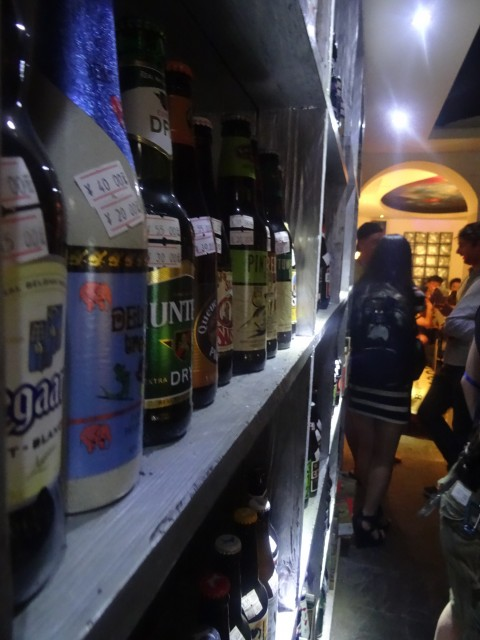 A small sample of Florentina's beer selection.