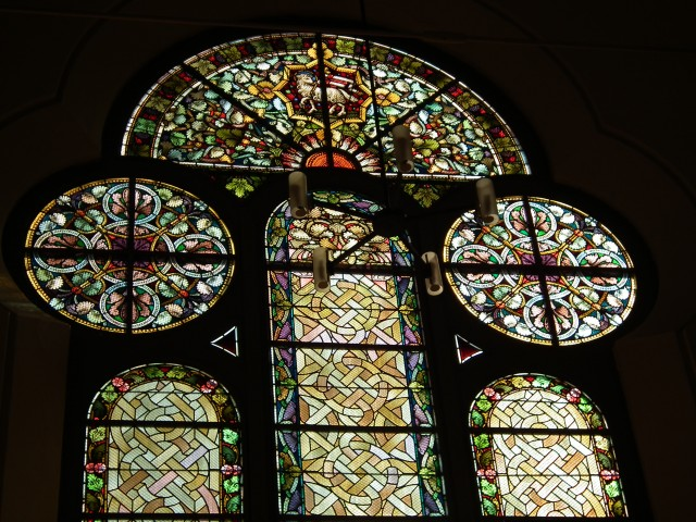 Some of the beautiful stained glass within the Christuskirche.