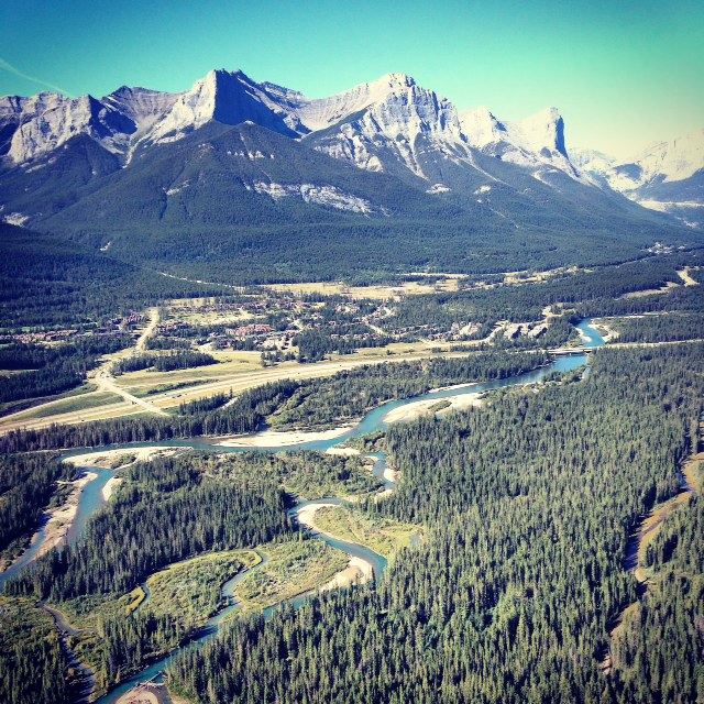 banff aerial helicopter