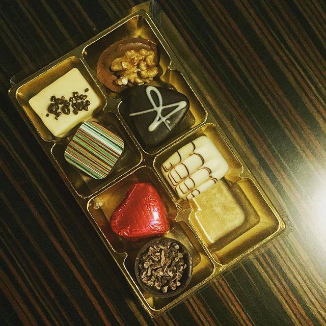 Handmade chocolates.