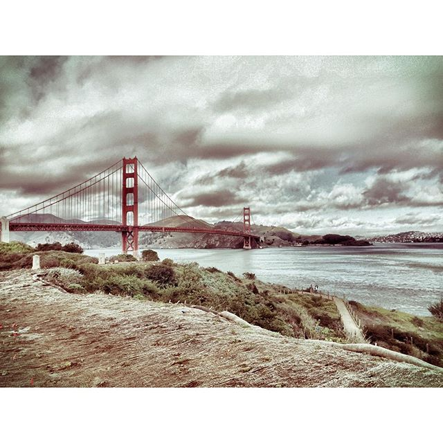 golden gate bridge overcast san francisco