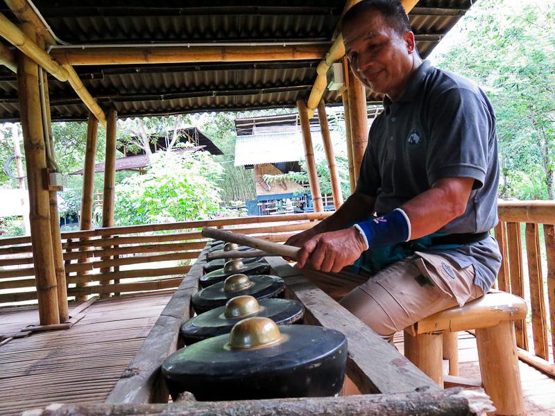 traditional gong sabah kiulu farm stay