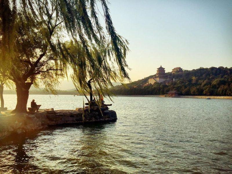 summer palace beijing sunset