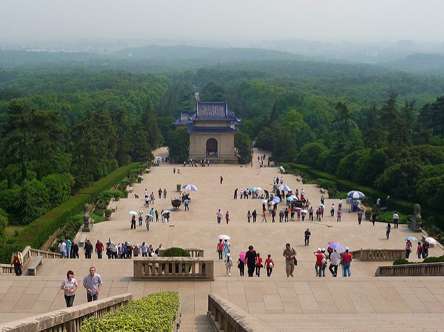 San Yat Sen Mausoleum Purple Mountain Nanjing