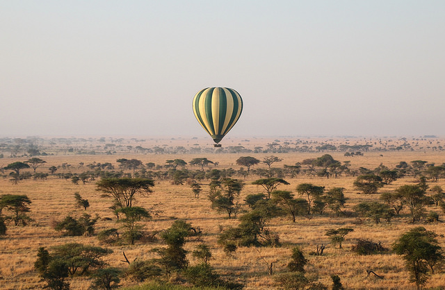 serengeti hot air balloon