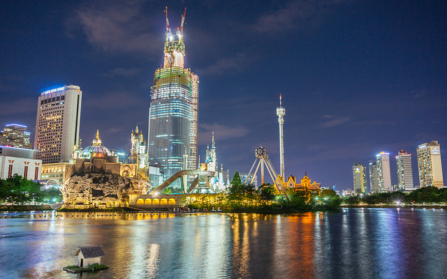 lotte world seoul night
