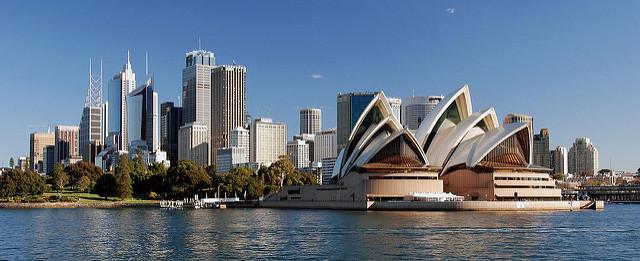 sydney opera house cityscape