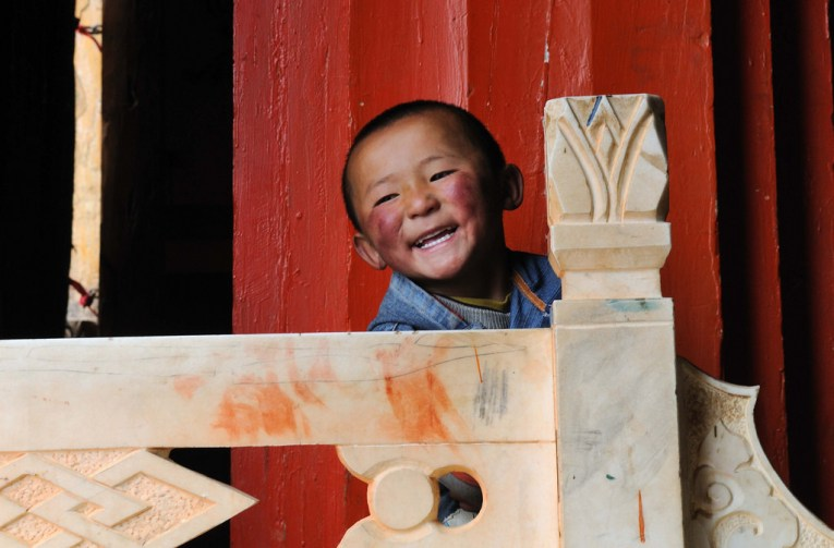 laughing child china