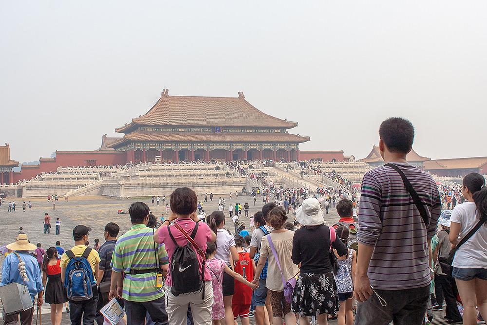 forbidden city beijing crowd