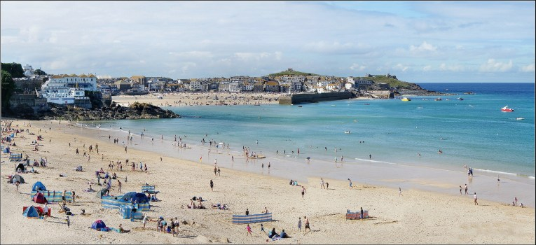 st ives beach uk road trip