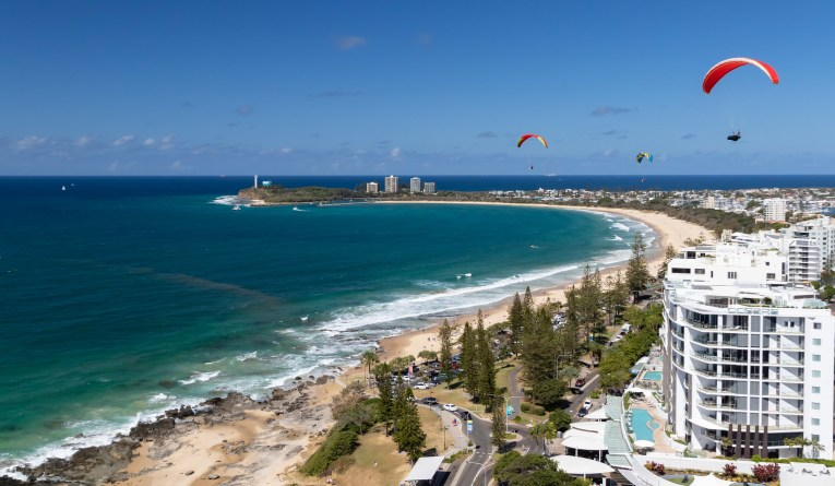 sunshine coast alexandra headland paraglider childhood vacation
