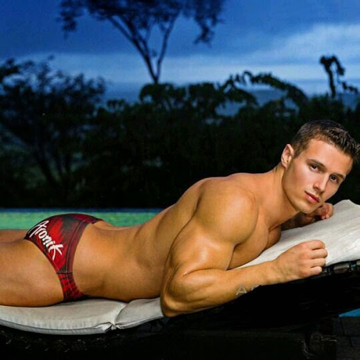 Speedo Bum in Red Speedos