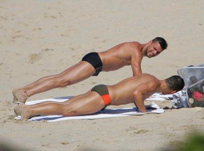 Ricky Martin wearing speedos.