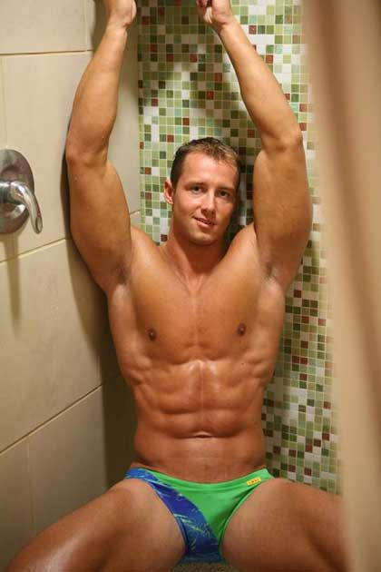 Shower and speedos