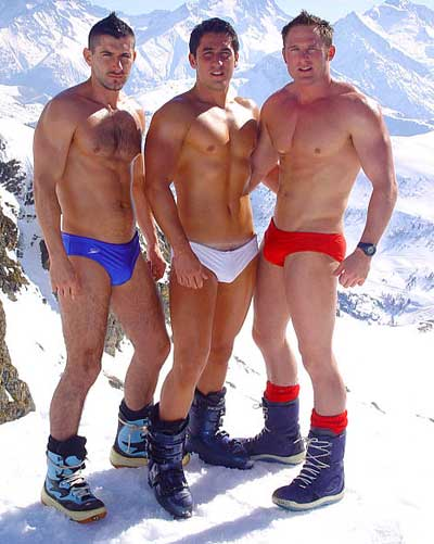 Speedos in the snow.