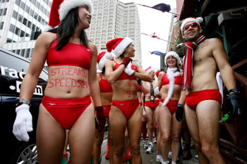 Toronto Santa Speedo Run Photo