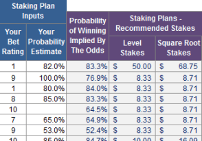 Staking Plan Calculator and Betting Tracker Excel