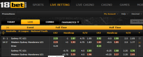 18bet live betting