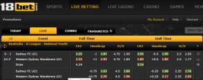 18bet live betting