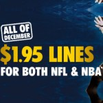1.95 Lines for the NBA and NFL this December with William Hill (excl. NSW)
