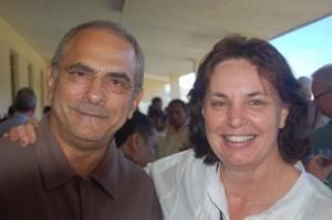 The President of Timor-Leste, HE Jose Ramos-Horta and Rae Kingsbury